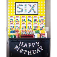 Modern Building Brick Birthday Party Printable Age Sign